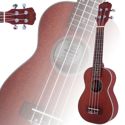"New Glarry UK201 Soprano 21"" Sapele Wood Ukulele Uke 15 Frets Coffee"