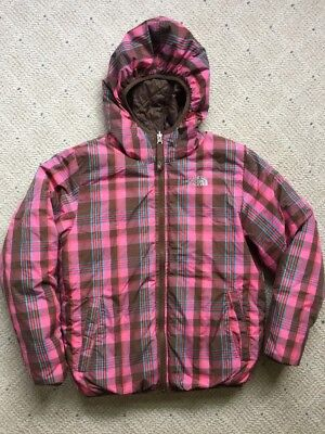 Girl sz 10 12 The North Face Moondoggy Reversible Down Hooded Winter Jacket Coat