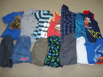 BOYS SIZE 3 BULK SUMMER CLOTHES 14 items Hot Wheels Cars Cotton On