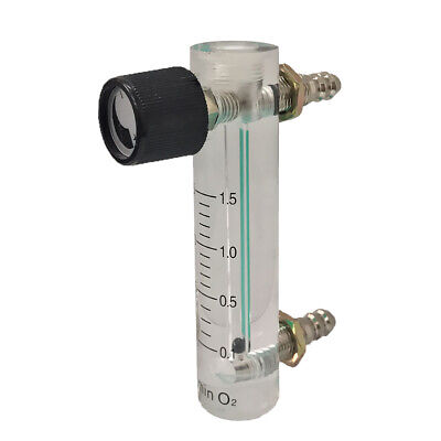 Flowmeter (0.1-1L to 1-15LPM Flow Meter) + Control Valve for Oxygen /Air/Gas