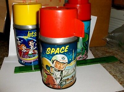 Space Ed McCauley`1960`Aladdin Industries,Metal Lunchbox-Thermos->Free To US