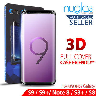 Samsung Galaxy S9 S8 Note 9 8 NUGLAS Full Cover Tempered Glass Screen Protector
