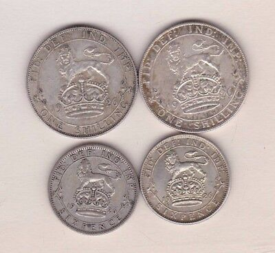 1926 George V Modified Head & Second Issue Shillings & Sixpences In Good Fine +
