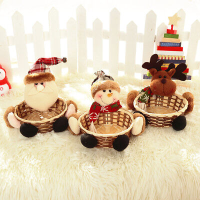 Merry Christmas Candy Storage Basket Decoration Santa Claus Storage Basket 2017