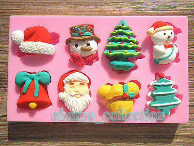 High Quality Christmas Theme Party Decor Silicone Mold Cake Chocolate Soap Mould