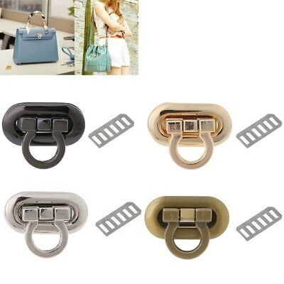 Metal Clasp Turn Lock Twist Lock for DIY Handbag Bag Purse Hardware Craft New