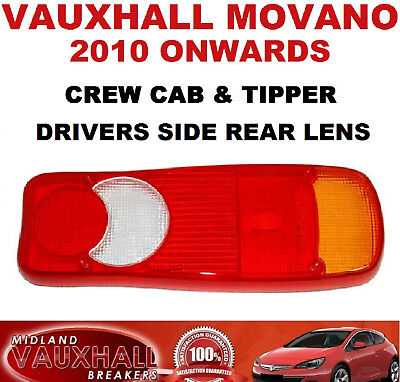 Movano Master Ducato Chassis Cab Tipper Rear Light Lens Drivers Off Side