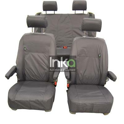 VW California Front And Rear Inka Fully Tailored Waterproof Seat Covers Grey