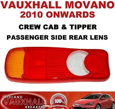 Movano Master Ducato Chassis Cab Tipper Rear Light Lens Passenger Near Side