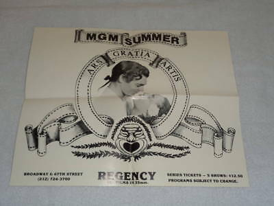 MGM Summer Film Schedule Regency Theater Broadway & 67th New York City 1979