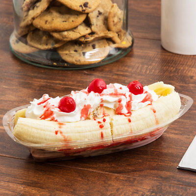 25 - 500 Banana Split Boats 12 oz Clear Free Shipping USA Only