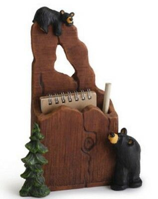 Jeff Fleming Bearfoots Noteworthy Bears Notepad and Pencil Holder Desk Big Sky