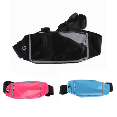 Soft Sport Belt Waist Bag Case Gym Pouch Reflective Cover with Touch Screen