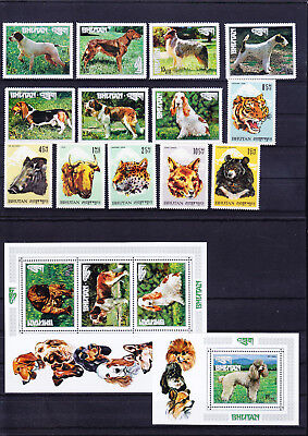 053793 Tiere Animals Bhutan ** MNH - Lot