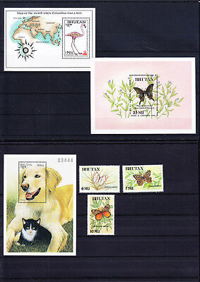053794 Tiere Animals Bhutan ** MNH - Lot
