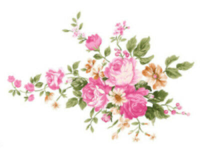 Vintage Victorian Shabby Pink Cabbage Roses Waterslide Decals FL503 U PIC SIZE