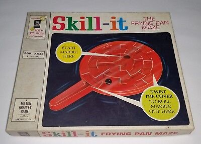 vintage 1966 SKILL-IT the Frying Pan Maze game from Milton Bradley / John Sands