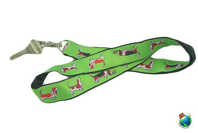 Basset Hound Lanyard Key Holder Badge Holder