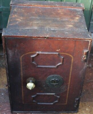 Very Old Looking Very Heavy But Useful Handy Sized Safe With Working Key