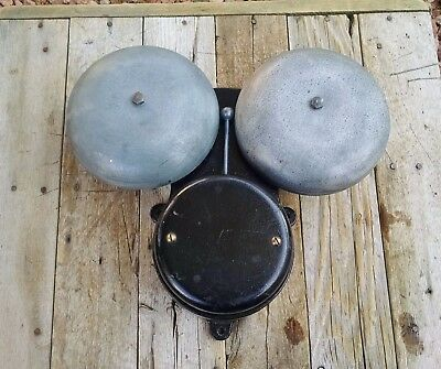 Vintage Cast Iron Western Electric Double Bell Ringer #392-A Telephone Alarm VGC