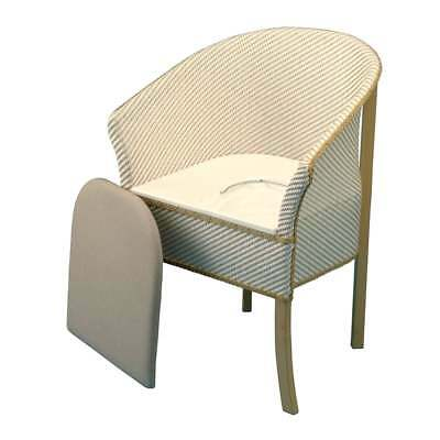 Derby Basketweave Commode Chair with Wooden Frame & High Sides for Stability