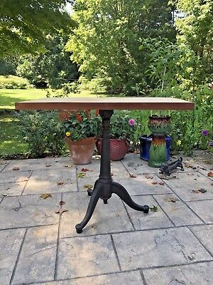 Antique Cast Iron Adjustable Drafting Table With Base