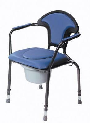 Luxury Height Adjustable Commode Chair with Arm Rests (Choose Your Colour)