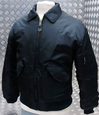 MA2 CWU US Military Style Bomber Jacket MOD/Scooter/Bikers Black - All Sizes NEW