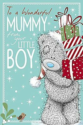 Me to You Tatty Teddy Christmas Card - Mummy from Little Boy