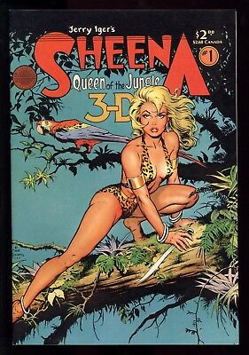 Sheena 3-D Special (1985) #1 1st Print Sexy Dave Stevens Cover W 3-D Glasses NM-