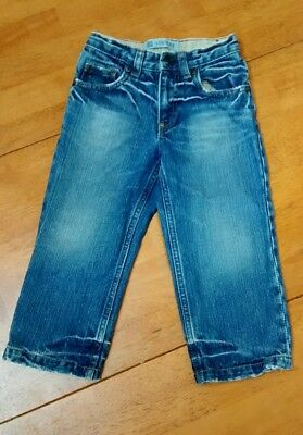 Baby Gap Toddler Boys Jeans Size 3T Loose Fit Factory Distressed EUC