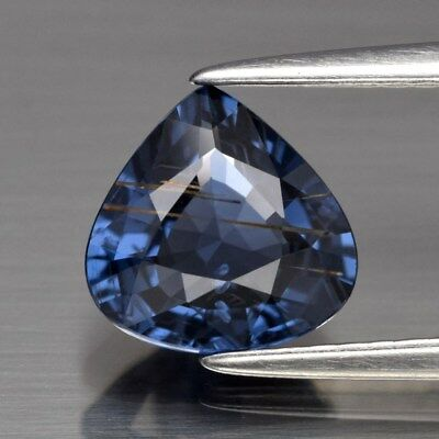 1.48ct 7.5mm Pear Natural Blue Spinel, Tanzania