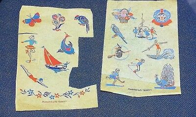 BUNTY MAGAZINE - vintage free gift - COLOURFUL TRANSFER SHEETS - possibly 1950s