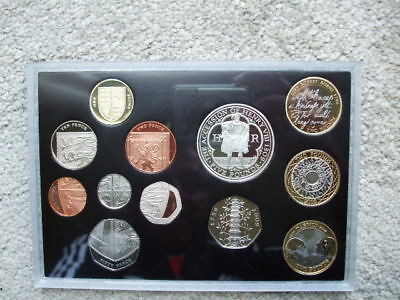 The Royal Mint 2009 United Kingdom Proof Coin Set With Rare Kew Gardens 50p