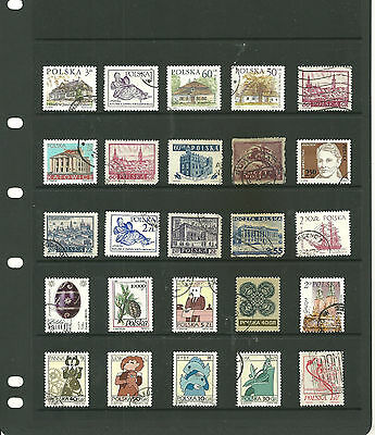Europe Poland 2 stock sheets mix collection stamps