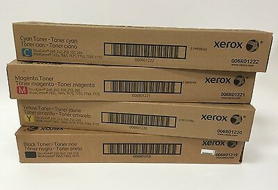 Xerox Docucolor 240/250/242/252 TONER- Full set of CMYK