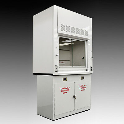 NEW - Chemical 4'  Fume Hood WITH Flammable Base Storage Cabinets ---