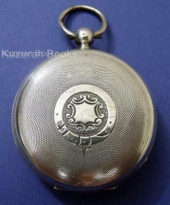 Antique Solid Sterling Silver Fob Pocket Watch Stinchcombe Oakhampton 1908