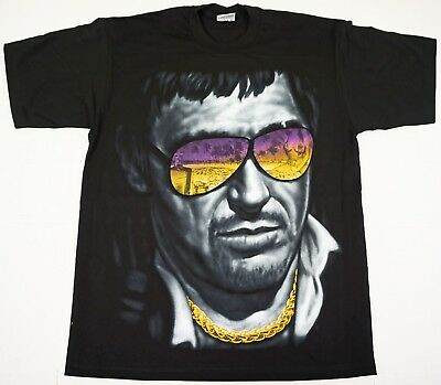SCARFACE T-shirt Tony Montana Al Pacino Gangster Movie Tee Black New Men