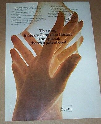 1971 print ad page - Sears Cling-alon Pantyhose hosiery HANDS vintage ADVERT