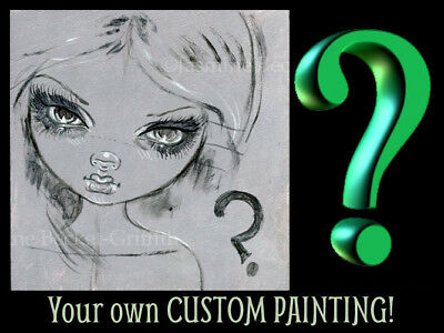YOUR CUSTOM Jasmine Becket-Griffith ORIGINAL PAINTING Fairy Face 241 big eye art