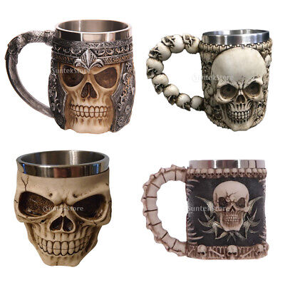 Halloween 3D Skull Wine Mug Bistro Party Drinks Cup Bar Beer Wine Glass Gothic