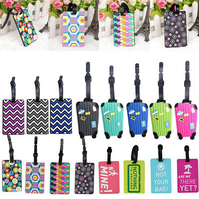 HOT Silicon Cartoon Travel Luggage Tags Name Address ID Bag Label Baggage Marks