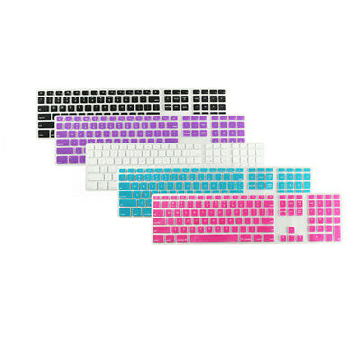Thin Keyboard Skin Cover Silicone Protector With Numeric Keypad For Apple iMac