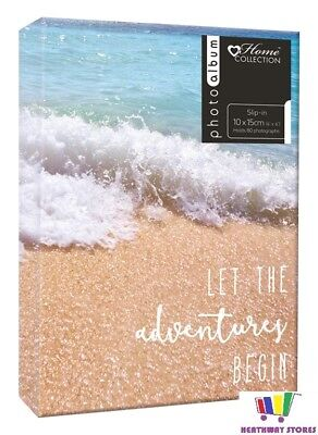"Beach Design Photo Album Slip In 4X6"" Gift Travel Photograph Holiday Memento New"