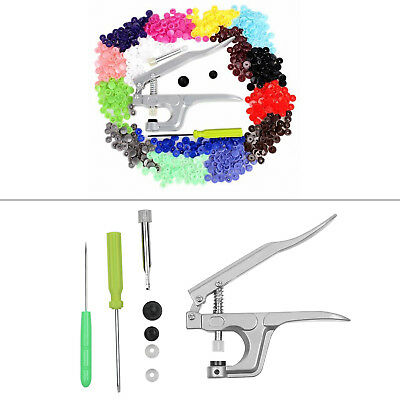 150pc Complete Kit KAM Snaps T5 T8 Press Poppers Resin Snaps Fasteners+Pliers