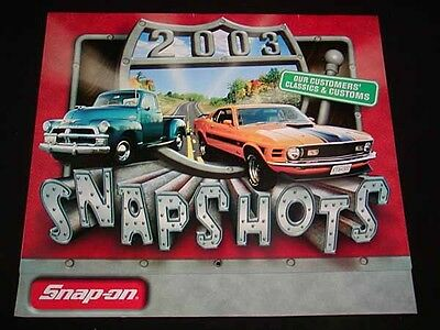 """SNAP-ON TOOLS Collectible CALENDAR for 2003 """"Snapshots"""", Antique Cars, SNAP-ON"""