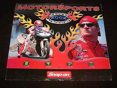 """SNAP-ON TOOLS Collectible CALENDAR for 2002 """"Motorsports"""", Cars, Cycles SNAP-ON"""