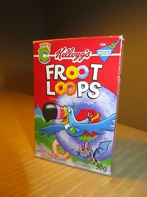 VINTAGE CEREAL BOX Kellogg's Mexican  FROOT LOOPS Single Serving Full circa 2002