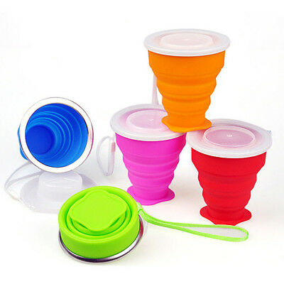 Silicone Telescopic Drinking Collapsible Folding Travel Camping Cup Portable